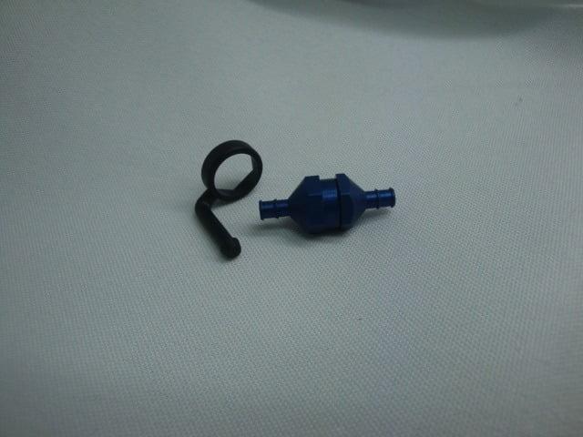 DUB-833 Filtro de Combustível Azul In-Line Fuel Filter Blue