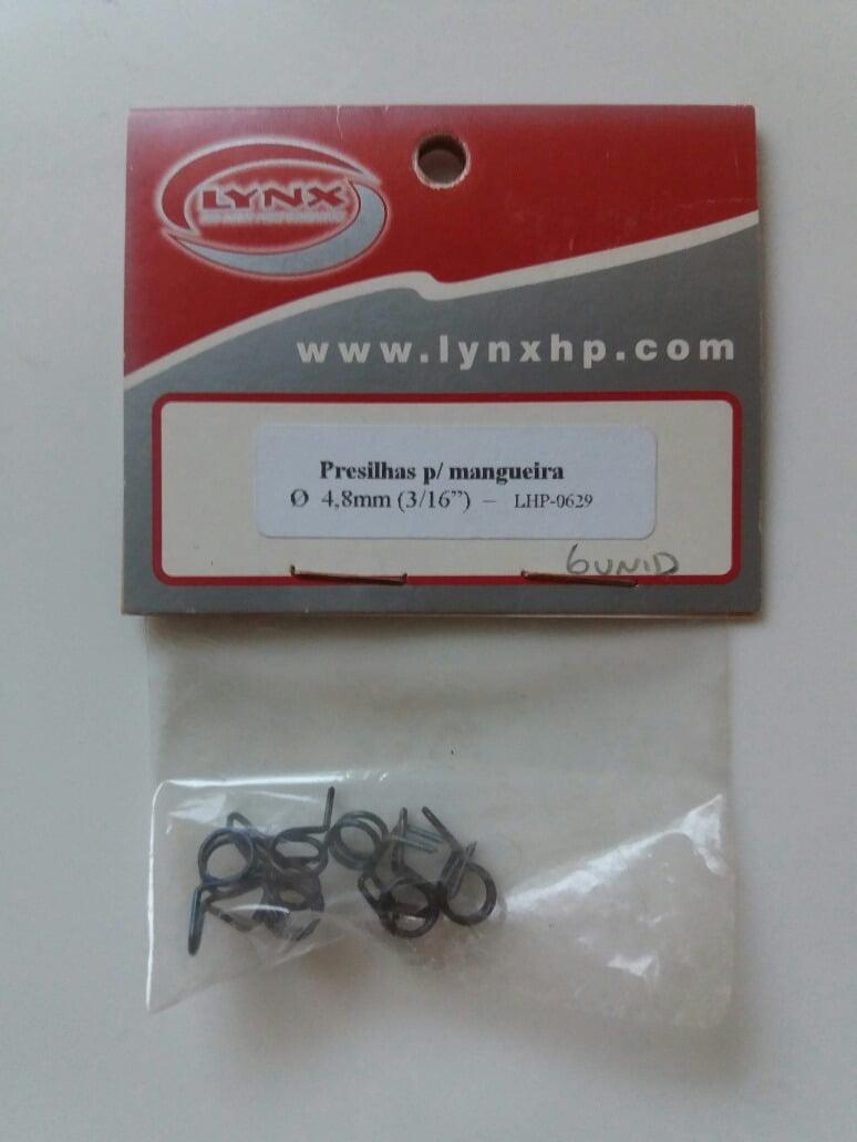 "LYNX - LHP0629 Presilhas p/ mang. silicone 3/16"""