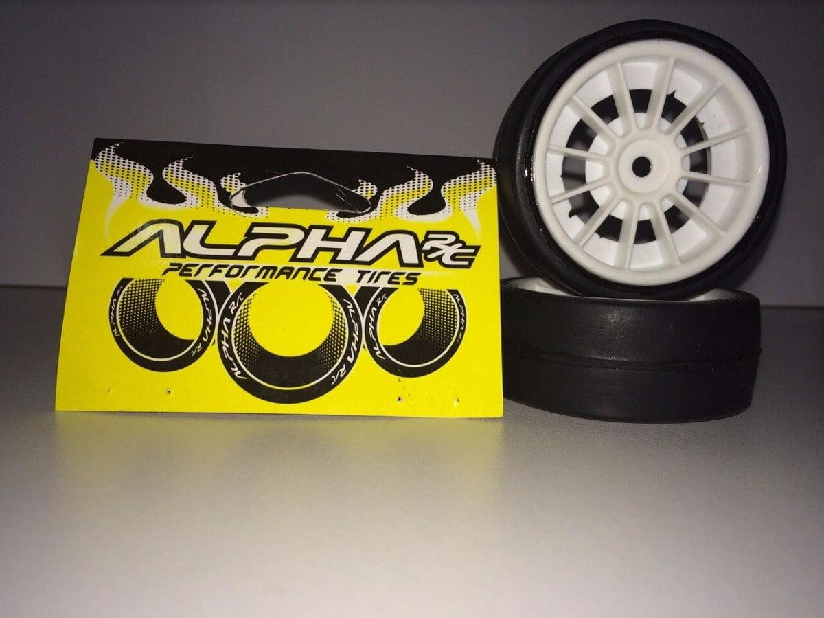 ALP6401H1 - Pneu Alpha RC 64x24mm Slick Hard 1 Branco