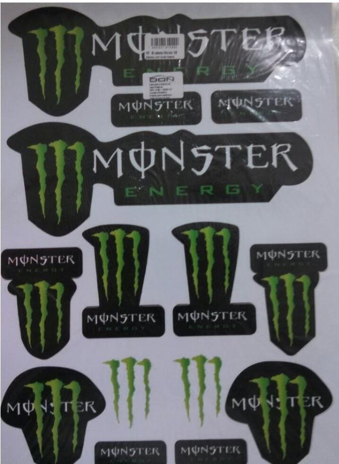 DON RACING - Adesivo Cartela Monster auto 1/10