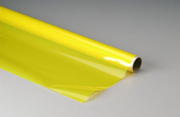 TOP FLITE - Plástico termoadesivo Monokote (66 x 182 cm) - Amarelo transparente - MONOKOTE TRANSPARENT YELLOW - TOPQ 0303