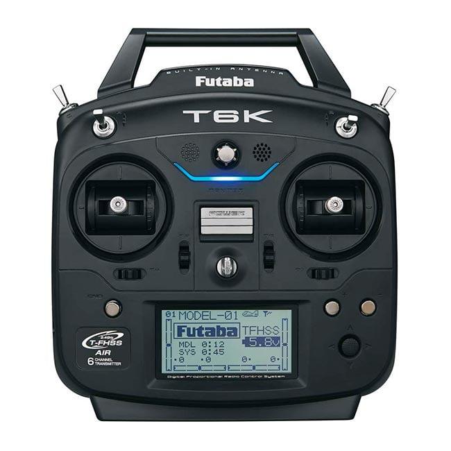 Rádio Futaba 6K 2.4GHz T-FHSS - Avião - Com Telemetria