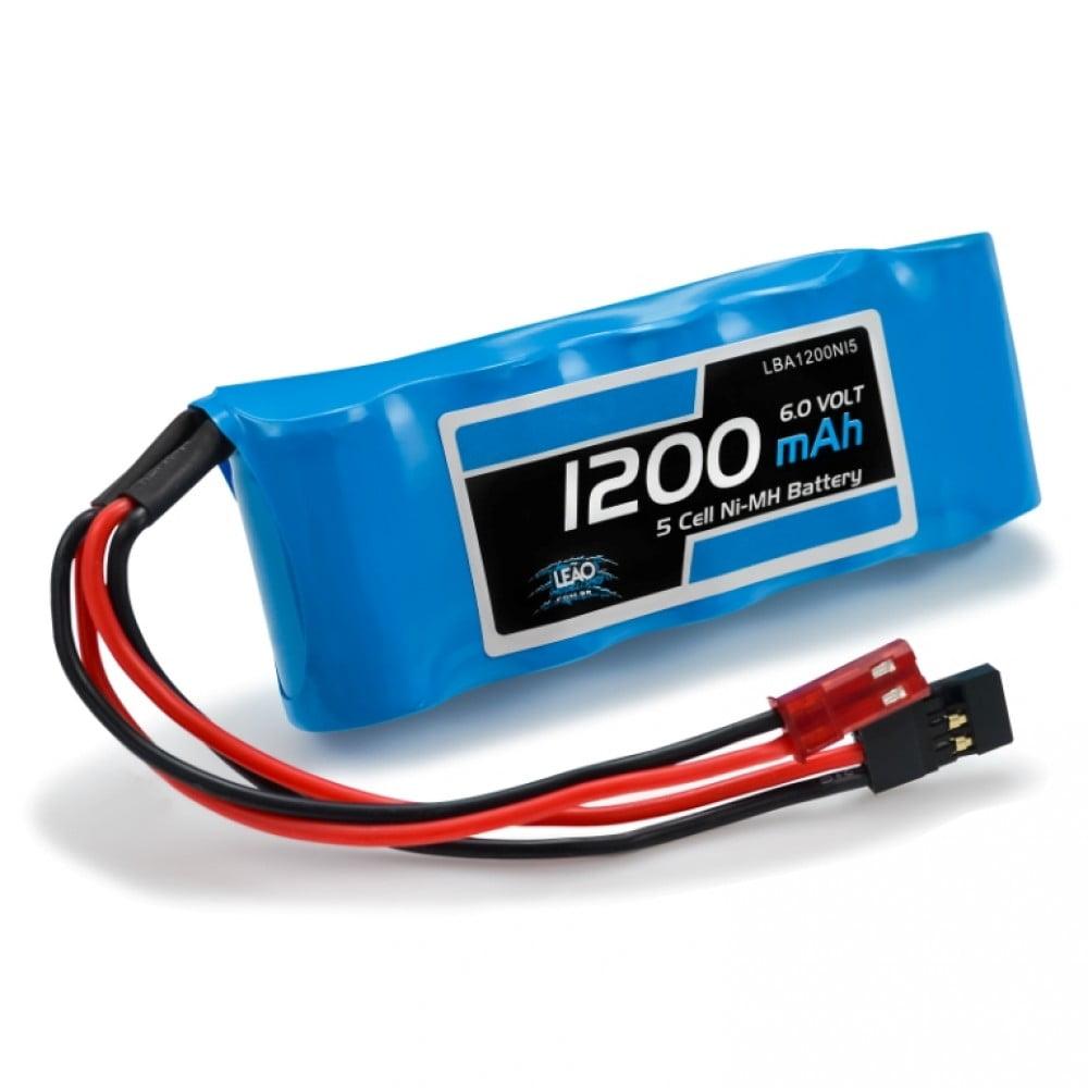 LEAO - Bateria NIMH(RX) - 6.0V - 1200mAh - FLAT - JST