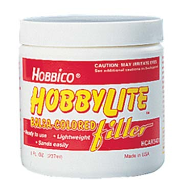 Massa seladora Hobbylite 1000 filler - Cor de madeira - 8 oz