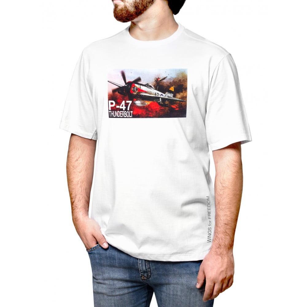 Camiseta P-47 Thunderbolt Booble – Branca