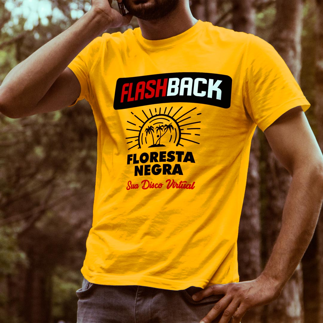 Camiseta T-SHIRT da Floresta Negra Disco Virtual Amarela