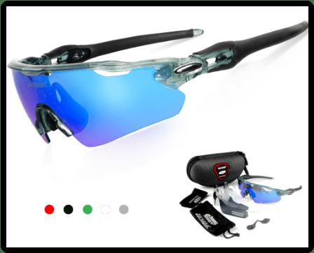 QUESHARK - Óculos Polarizados Óculos De Sol Esporte - 3 LE