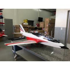 JATO PJ-100 COM TREM DE POUSO AR CLASSE 80 - 120 VERMELHO KIT ARF