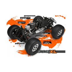AUTOMODELO HPI Racing 1/8 Savage XL 5.9 Nitro 4WD 2.4GHz RTR