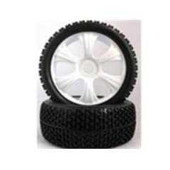 MK - MK180029 Roda com pneu offroad Buggy 1/8 Branco (PAR)