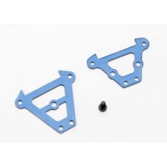 TRAX 7023 - Bulkhead tie bars, front & rear (blue-anodized aluminum)/ 2.5x6 CS (1)