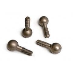 TRAXXAS - TRAX 4933X Hard-anodized pivot balls (4) (TM-SM)