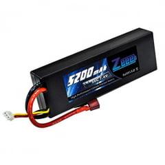 ZEE - Bateria de LiPo 7,4V 5200mAh 50C bullet hard case