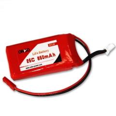 ONBO - Bateria life 850mah 25c 2S 6.6V