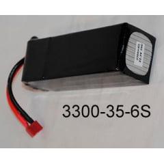 Bateria de LiPo 3300mAh 35C 22,2V com plug deans