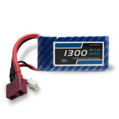 Bateria Lipo - 7.4V - 2S - 1300mAh - 30C/60C - T-Dean