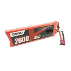 Onbo - Bateria  Lipo 2600mah 7.4v 2s 35c - AUTOMODELO