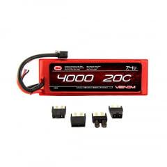 VENOM - 20C 2S 4000mAh 7.4V Hard Case LiPo Battery with Universal Plug (EC3/Deans/Traxxas/Tamiya)