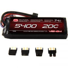 VENOM - 20C 2S 5400mAh 7.4V LiPo Battery with Universal Plug (EC3/Deans/Traxxas/Tamiya)