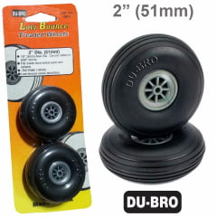DUBRO - DUBR 200T - Roda de Borracha 2 polegadas - par