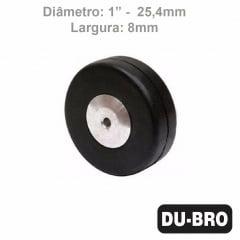DUBRO - Roda de bequilha traseira (diâmetro 1 pol.) para aviões 60 - DUBR 100TW
