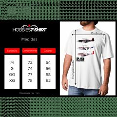 Camiseta P-51 Mustang – Branca
