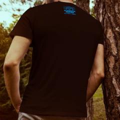 Camiseta T-SHIRT Start The Music da Marca Floresta Negra Disco Virtual Cor Preta