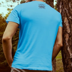 Camiseta T-SHIRT da Floresta Negra Disco Virtual Azul Ciano