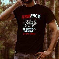 CAMISETA T-SHIRT DA FLORESTA NEGRA DISCO VIRTUAL COR PRETA