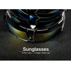 QUESHARK - Óculos Polarizados 5 lente Oculos Sport