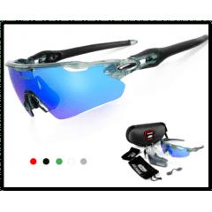 QUESHARK - Óculos Polarizados Óculos De Sol Esporte - 3 LENTES