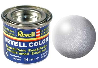 Tinta Revell para plastimodelismo - Esmalte sintético - Alumínio metálico - 14ml 32199