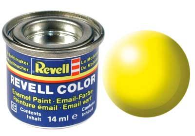 Tinta Revell para plastimodelismo - Esmalte sintético - Amarelo brilhante seda - 14ml 32312