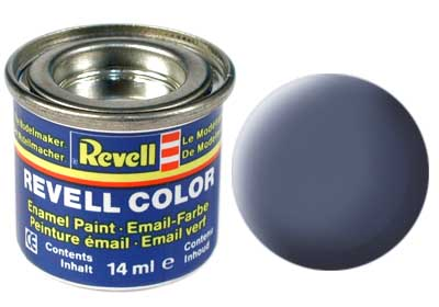 Tinta Revell para plastimodelismo - Esmalte sintético - Cinza fosco - 14ml 32157