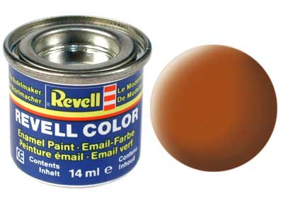 Tinta Revell para plastimodelismo - Esmalte sintético - Marrom fosco - 14ml 32185