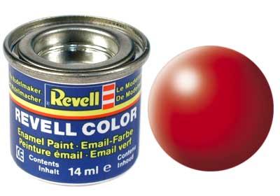 Tinta Revell para plastimodelismo - Esmalte sintético - Vermelho brilhante seda - 14ml 32332